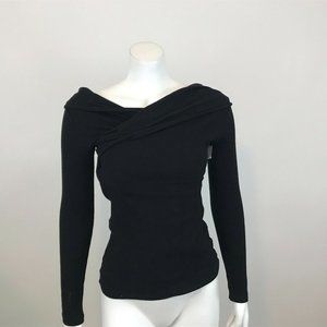 Asilio Summer Storm Black Long Sleeve Sweater S